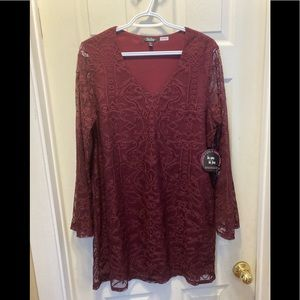 NWT Bebop ladies lace over lay short dress XL